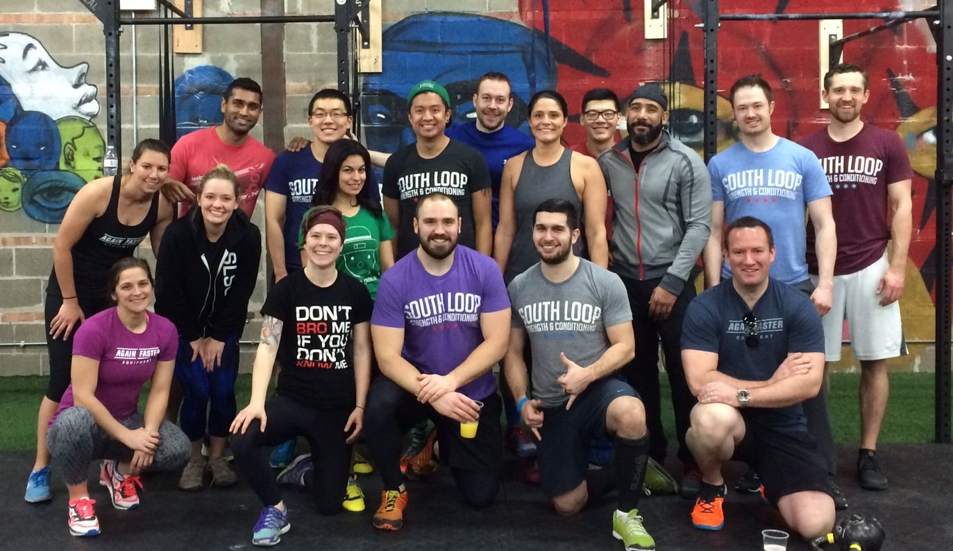 Group photo at South Loop CrossFit in Chicago